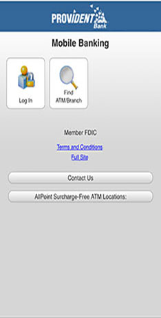 Image of Mobile Banking Browser Login Page with option to find an ATM/Branch Location